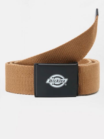 Dickies Orcutt Men's Logo Buckle Belt - DUCK BROWN