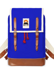 YKRA Matra Mini Leather Strap Backpack - BLUE