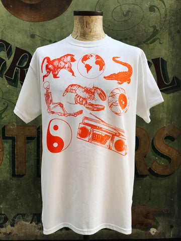 Beasley's Pictograph T-shirt red to Orange Fade