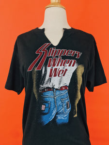 1980s Bon Jovi Slippery When Wet T-Shirt