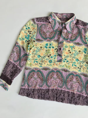 Secret Garden 1970s Floral Blouse