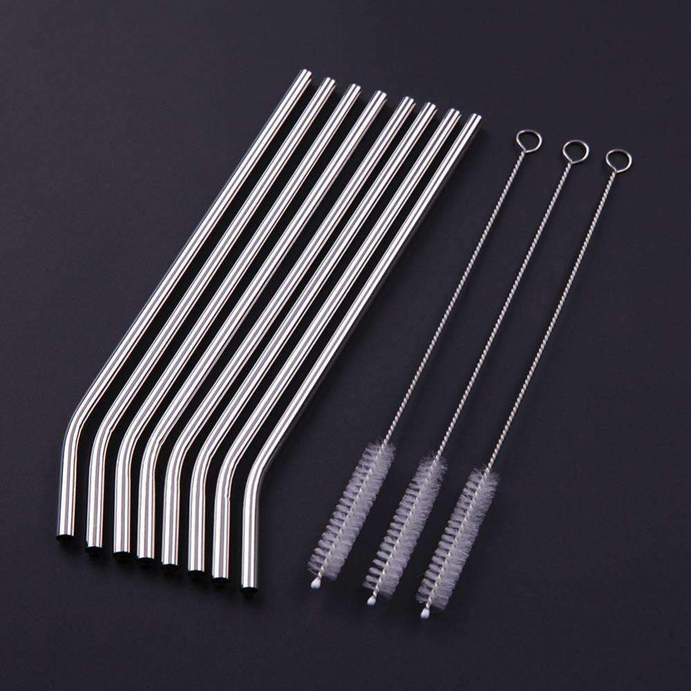 Reusable Stainless Steel Straws - Treehouse Supply - Plastic free, ecofriendly products