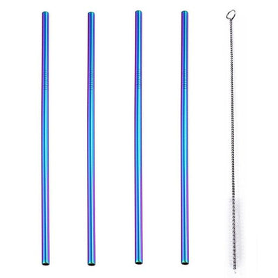 Colored Stainless Steel Straws - Treehouse Supply - Plastic free, ecofriendly products
