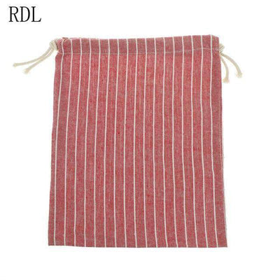 Striped Drawstring Bags - Treehouse Supply - Plastic free, ecofriendly products