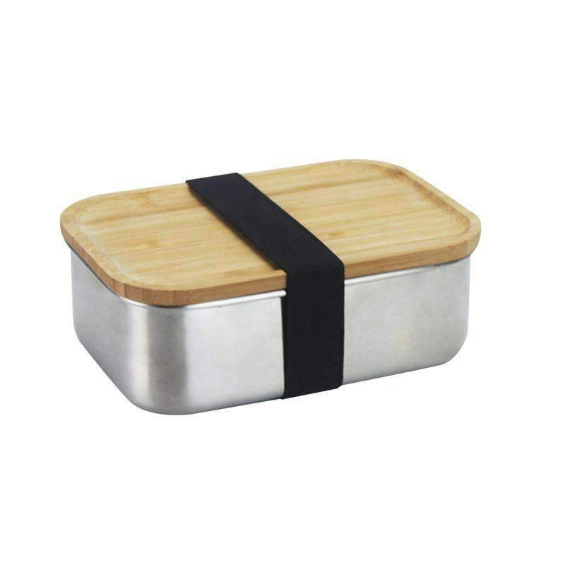 Stainless Steel Bamboo Bento Box - Treehouse Supply - Plastic free, ecofriendly products