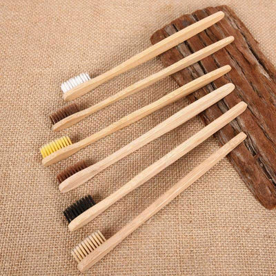 Bamboo Toothbrush Set (10) - Treehouse Supply - Plastic free, ecofriendly products
