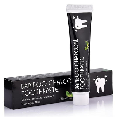 Bamboo Charcoal Teeth Whitening Toothpase - Treehouse Supply - Plastic free, ecofriendly products