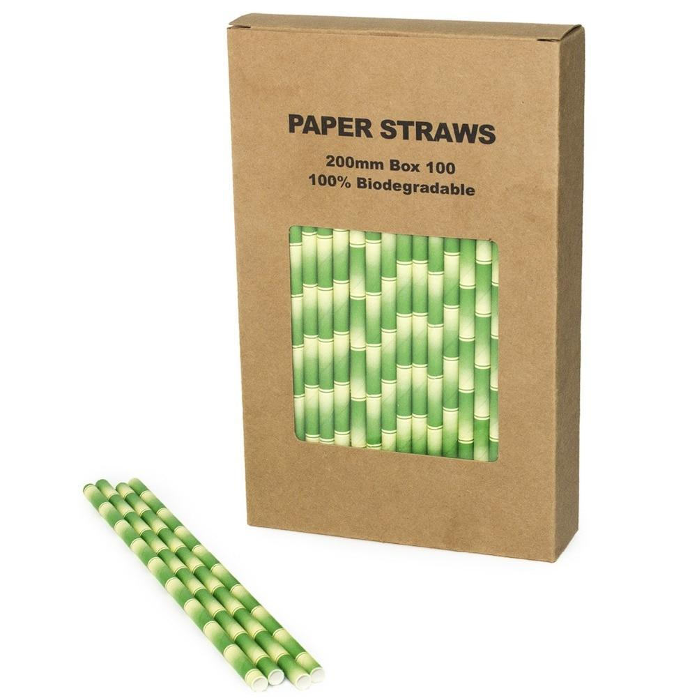 Compostable Paper Straws (100) - Treehouse Supply - Plastic free, ecofriendly products