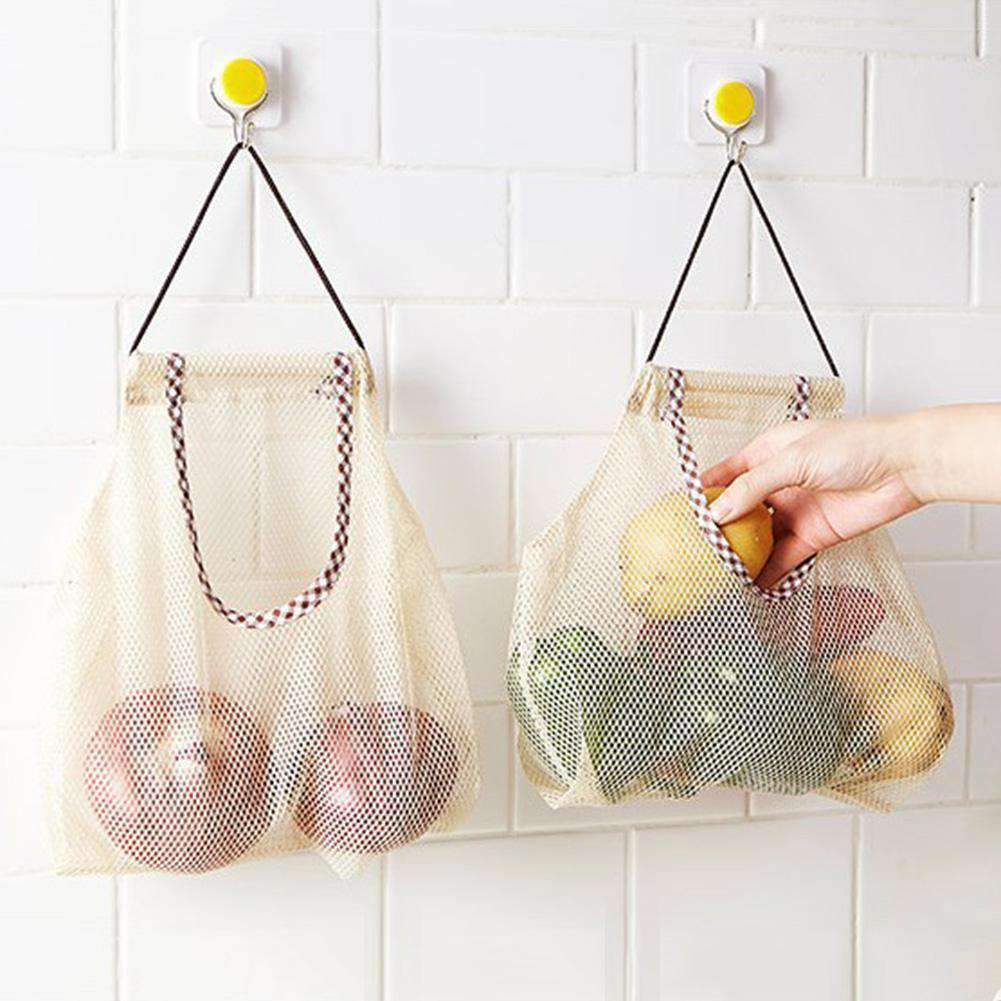 Hanging Mesh Organizer Bag - Treehouse Supply - Plastic free, ecofriendly products