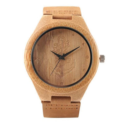 Black/Coffee/Green Natural Bamboo Wood Watch - Treehouse Supply - Plastic free, ecofriendly products