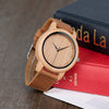 Faux Leather Wooden Watch - Treehouse Supply - Plastic free, ecofriendly products