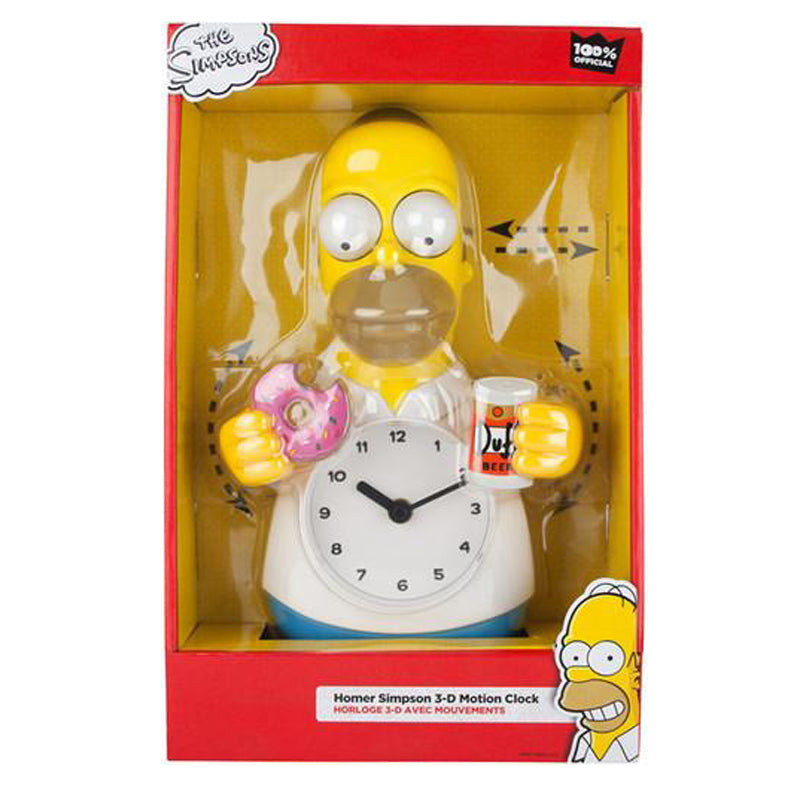 Homer Simpson 3-D Motion Clock NJCroce