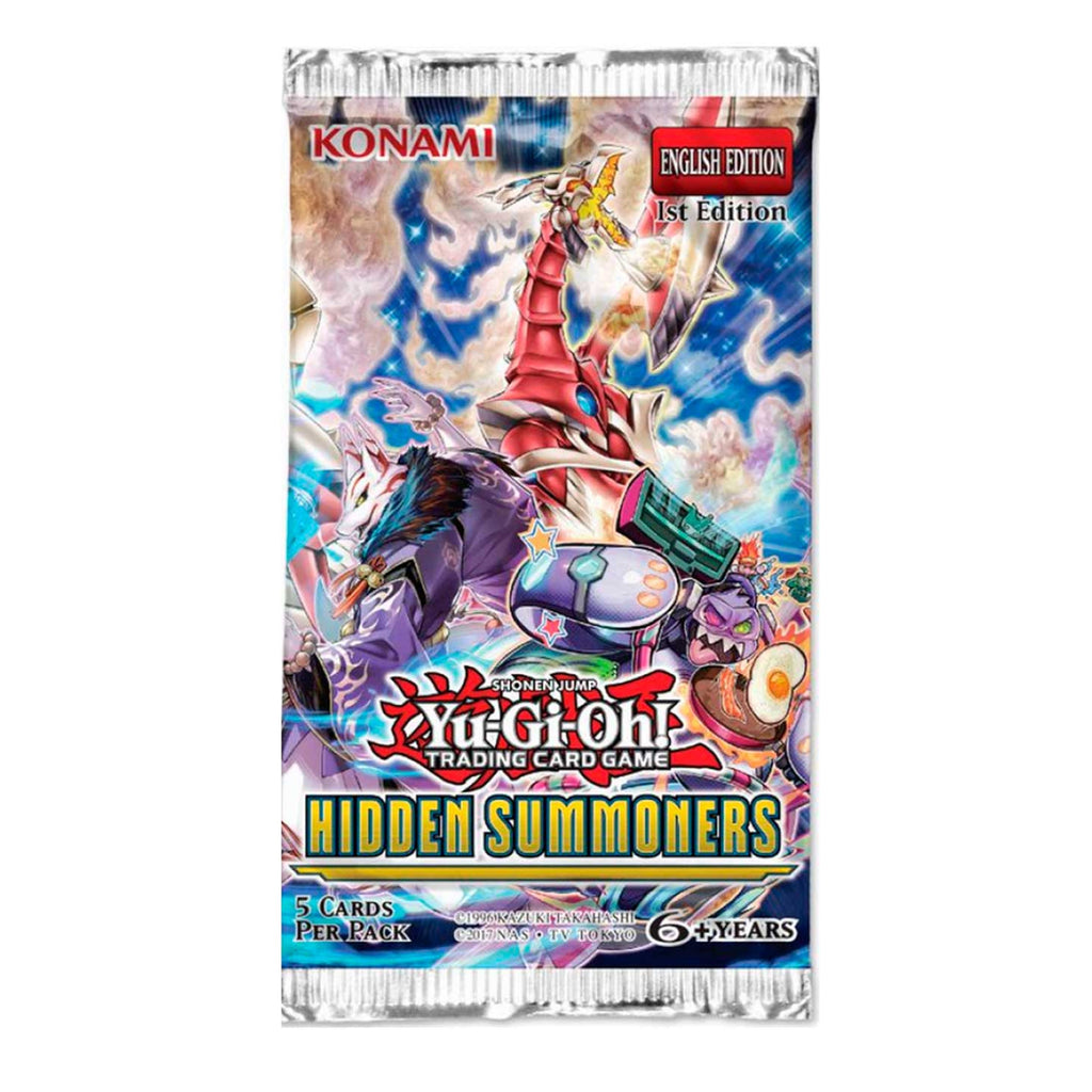 YuGiOh Trading Card Game: Hidden Summoners Booster Pack 1st Edition
