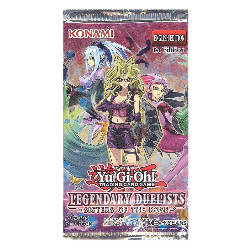 YuGiOh Trading Card Game: Legendary Duelist Sisters of The Rose Booster Pack 1st Edition