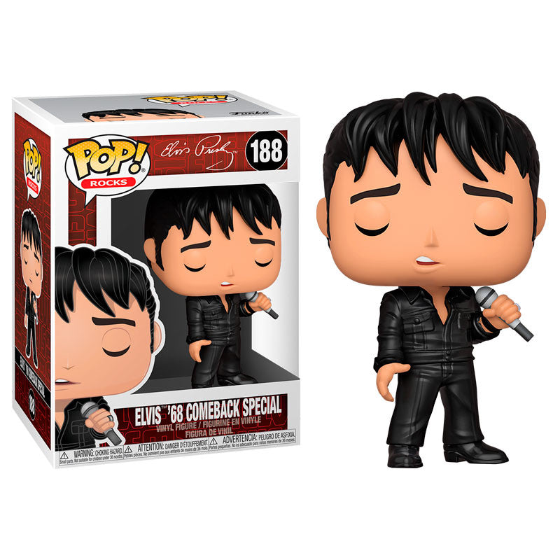 Funko Pop! Rocks #188: Elvis - '68 Comeback Special