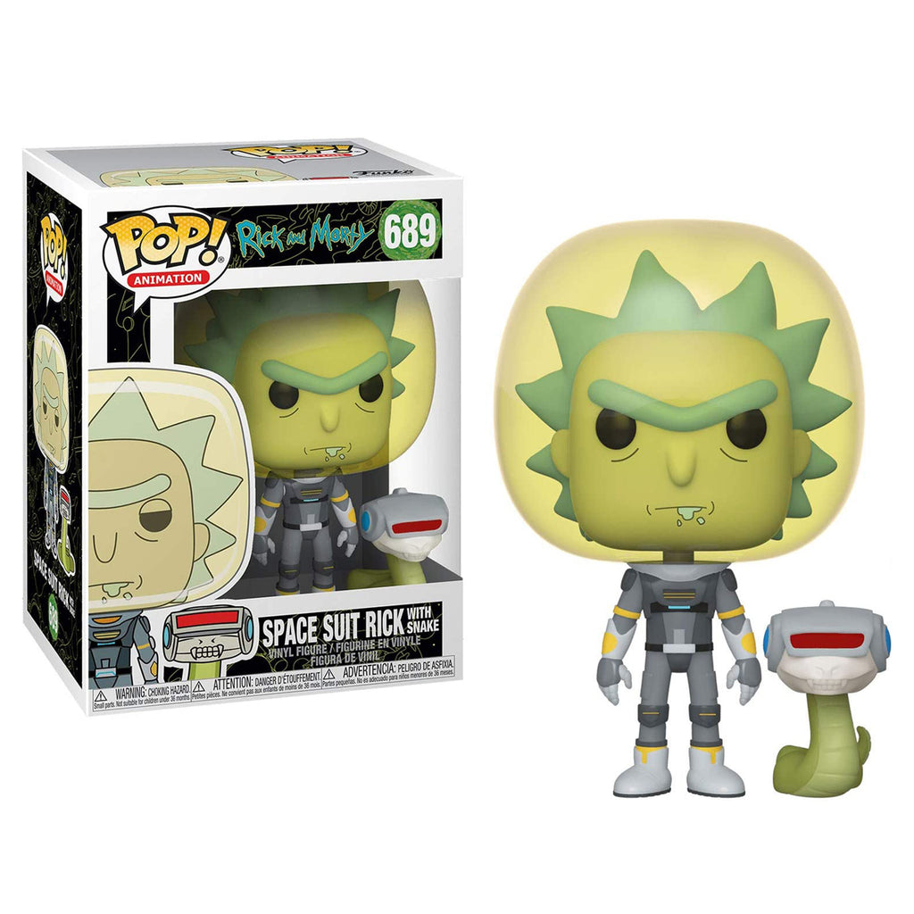 Funko Pop! Animation #689: Rick and Morty - Space Suit Rick with Snake