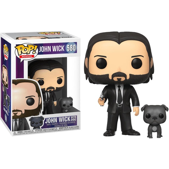 Funko Pop! Movies #580: John Wick - John in Black Suit with Dog Buddy