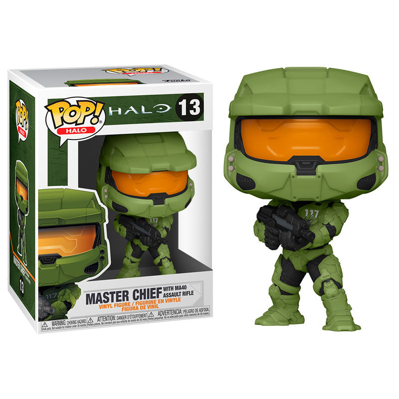Funko Pop! Games #13: Halo Infinite - Master Chief With MA40 Assault Rifle