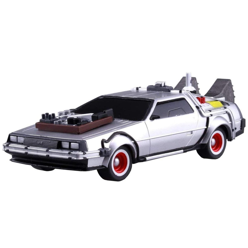 Aoshima Movie Mecha Series No.13 Back to the Future Pullback DeLorean Part.3 1/43 Scale Plastic Model kit