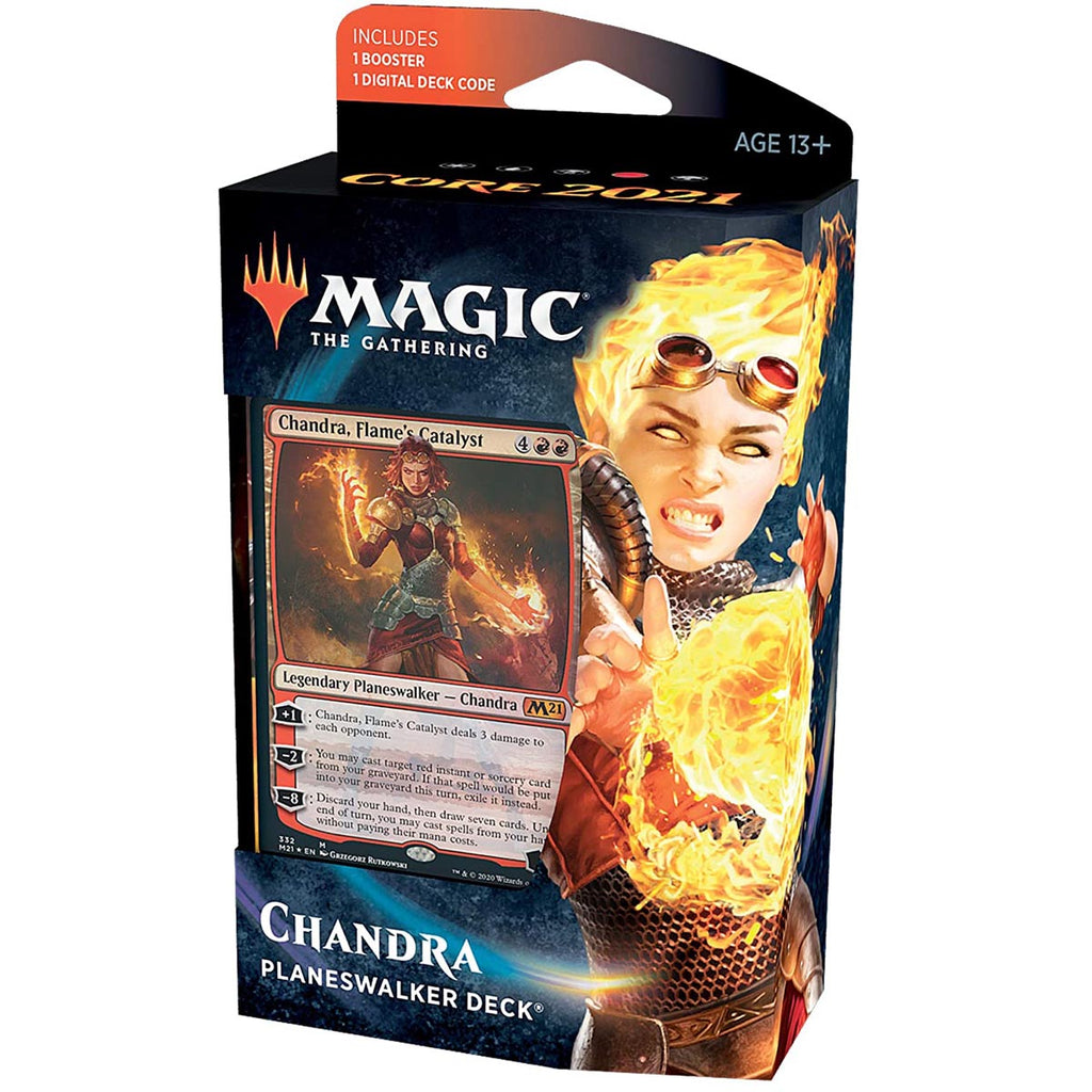 Magic: The Gathering Chandra, Flame's Catalyst Planeswalker Deck | Core Set 2021 (M21) | 60 Card Starter Deck (English Edition)