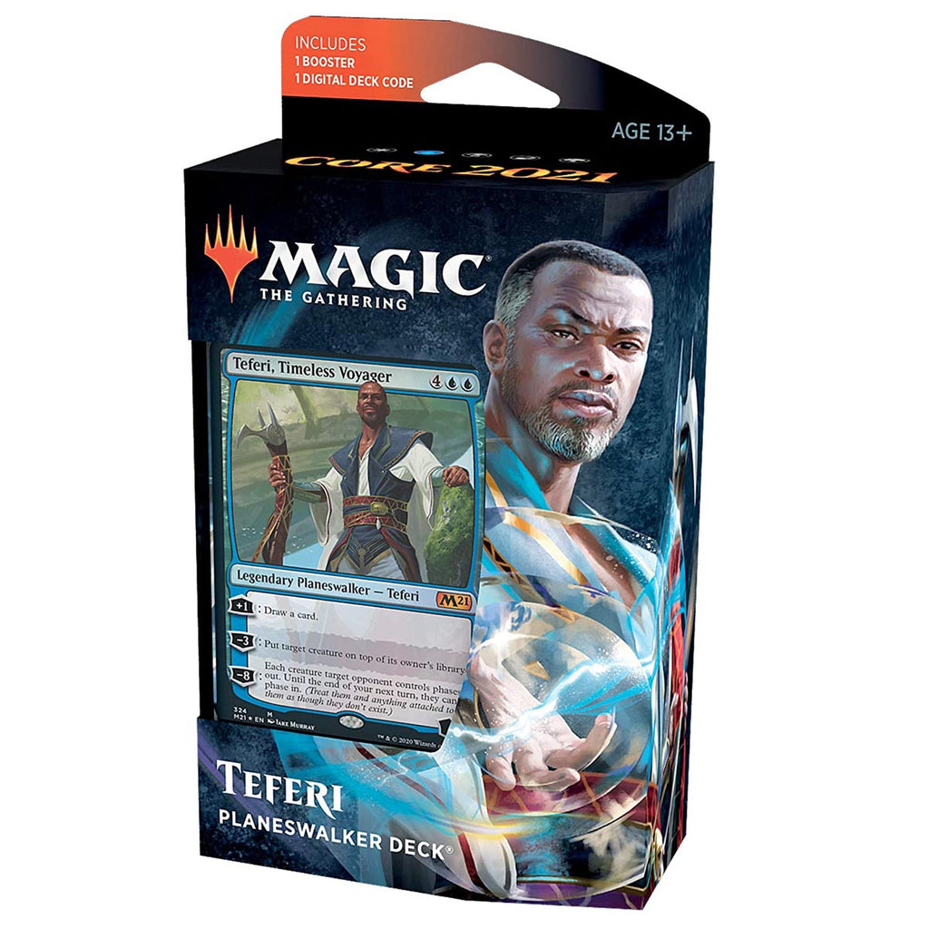Magic: The Gathering Teferi Timeless Voyager Planeswalker Deck | Core Set 2021 (M21) | 60 Card Starter Deck (Spanish Edition)