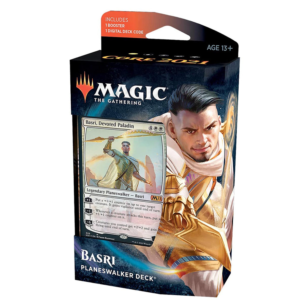 Magic: The Gathering Basri Ket, Devoted Paladin Planeswalker Deck | Core Set 2021 (M21) | 60 Card Starter Deck (Spanish Edition)