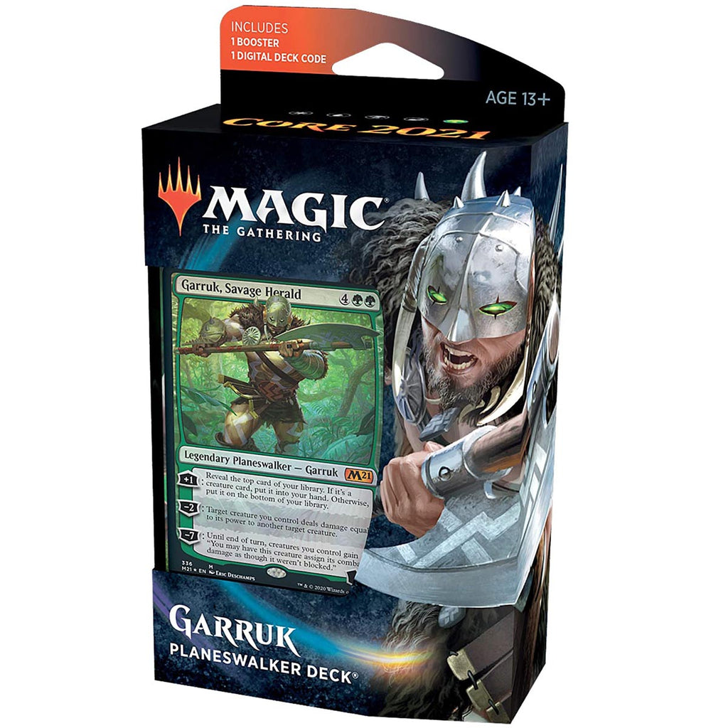 Magic: The Gathering Garruk, Savage Herald Planeswalker Deck | Core Set 2021 (M21) | 60 Card Starter Deck (English Edition)