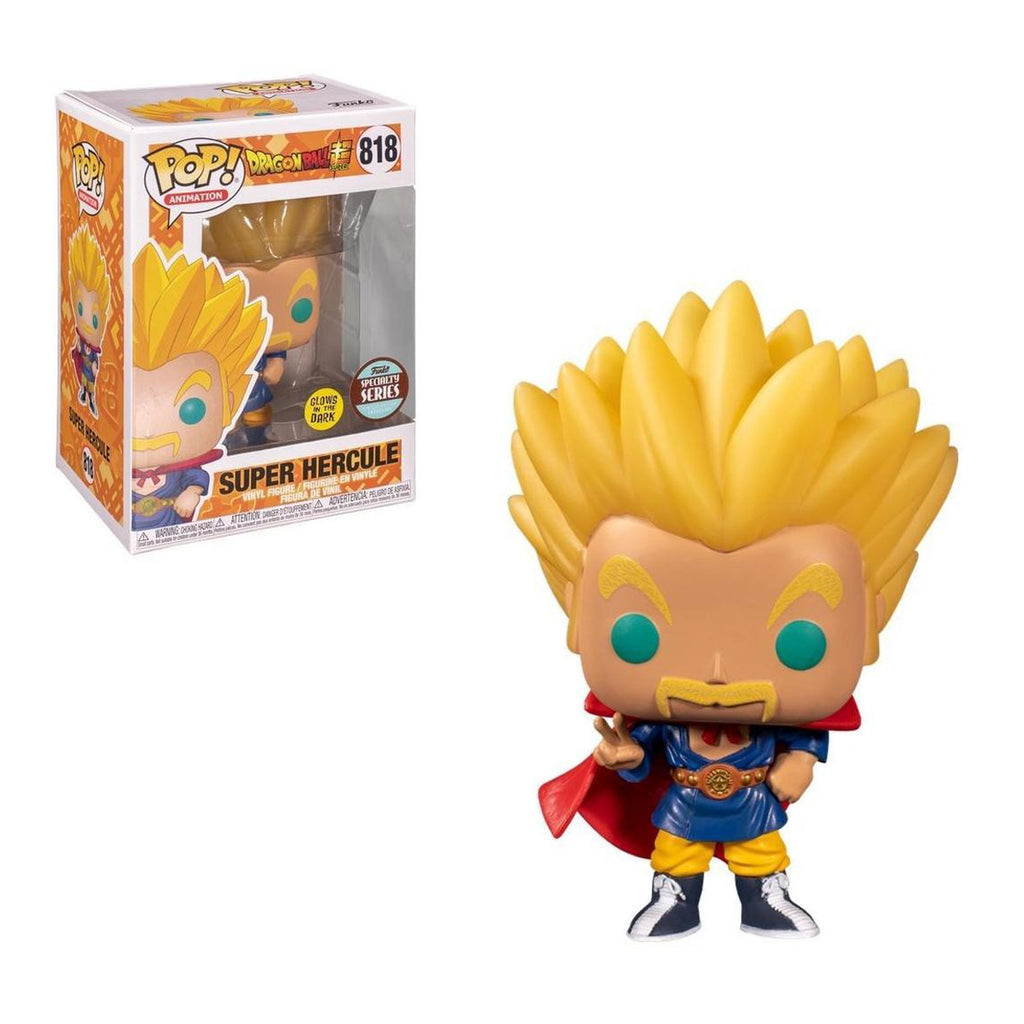 Funko POP Animation #818: Dragon Ball Super Super Saiyan Hercule, Glow in The Dark