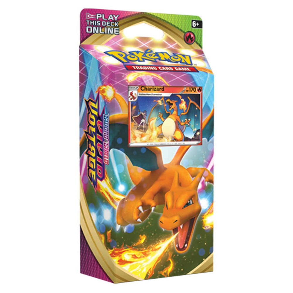"Pokemon TCG: Sword & Shield Vivid Voltage Theme Deck Featuring Charizard ""ENGLISH EDITION"""