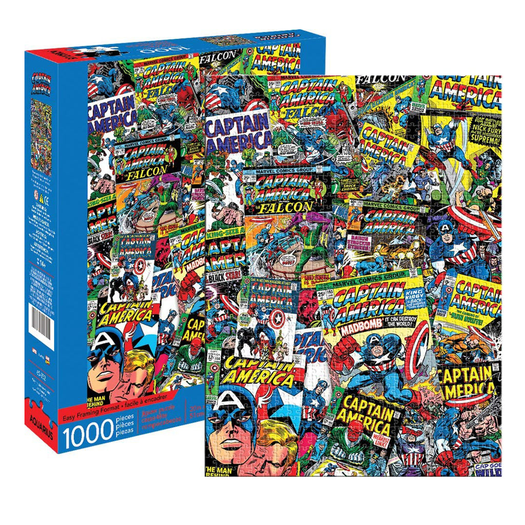 Marvel Captain America Collage 1000 pc Puzzle