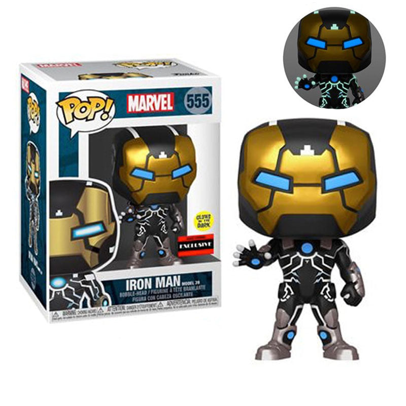 "Funko Pop #555 Marvel Iron Man Mk-39 AAA Anime Exclusive ""Glow in the dark"""