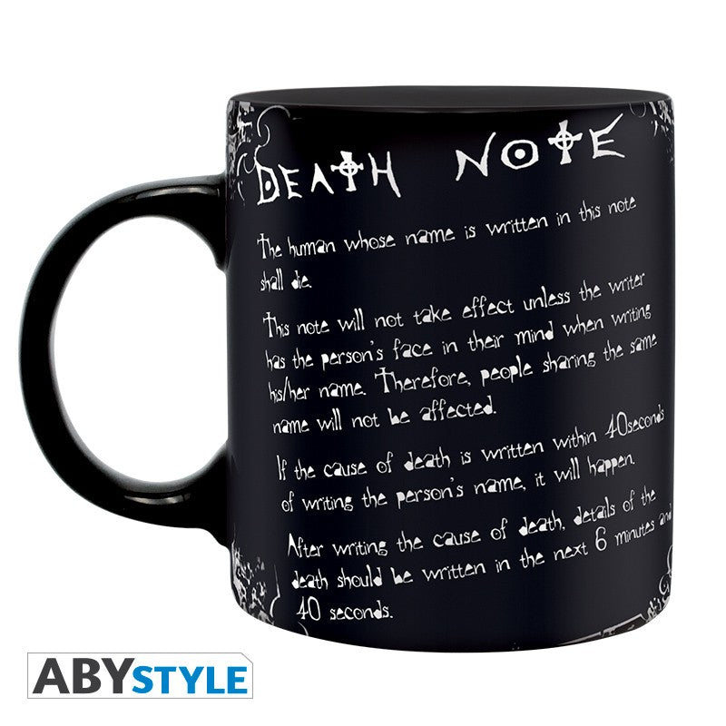 DEATH NOTE - Mug - 320 ml - L & rules - with box