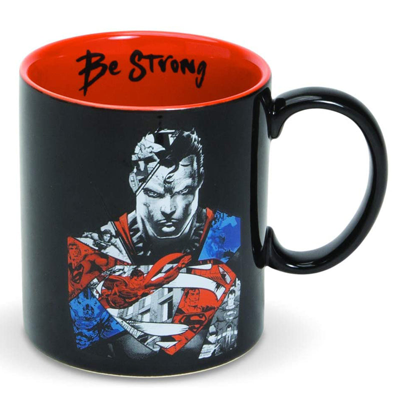 Enesco DC Comics Ceramics Superman Be Strong Coffee Mug, 16 Ounce