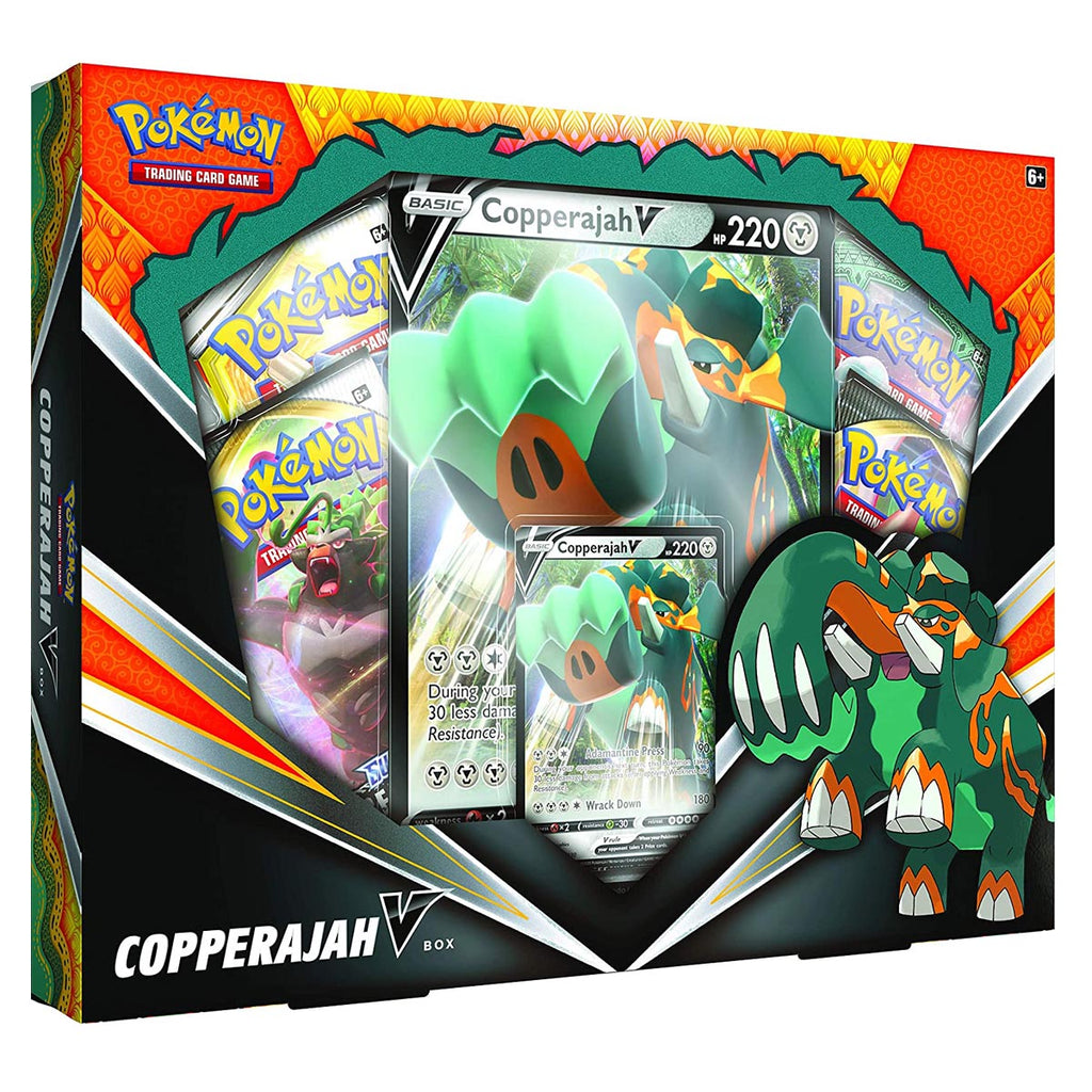 "Pokemon TCG: Copperajah V Box | 1 Foil Cards | 4 Booster Packs | Genuine Cards ""SPANISH EDITION"""