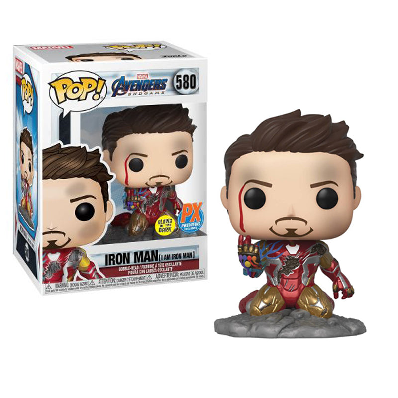 Funko Pop! Avengers Endgame #580: I Am Iron Man Glow-in-The-Dark Deluxe