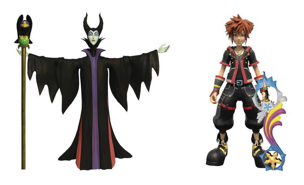 DIAMOND SELECT TOYS Kingdom Hearts 3: Maleficent & Sora Action Figure 2 Pack, Multicolor
