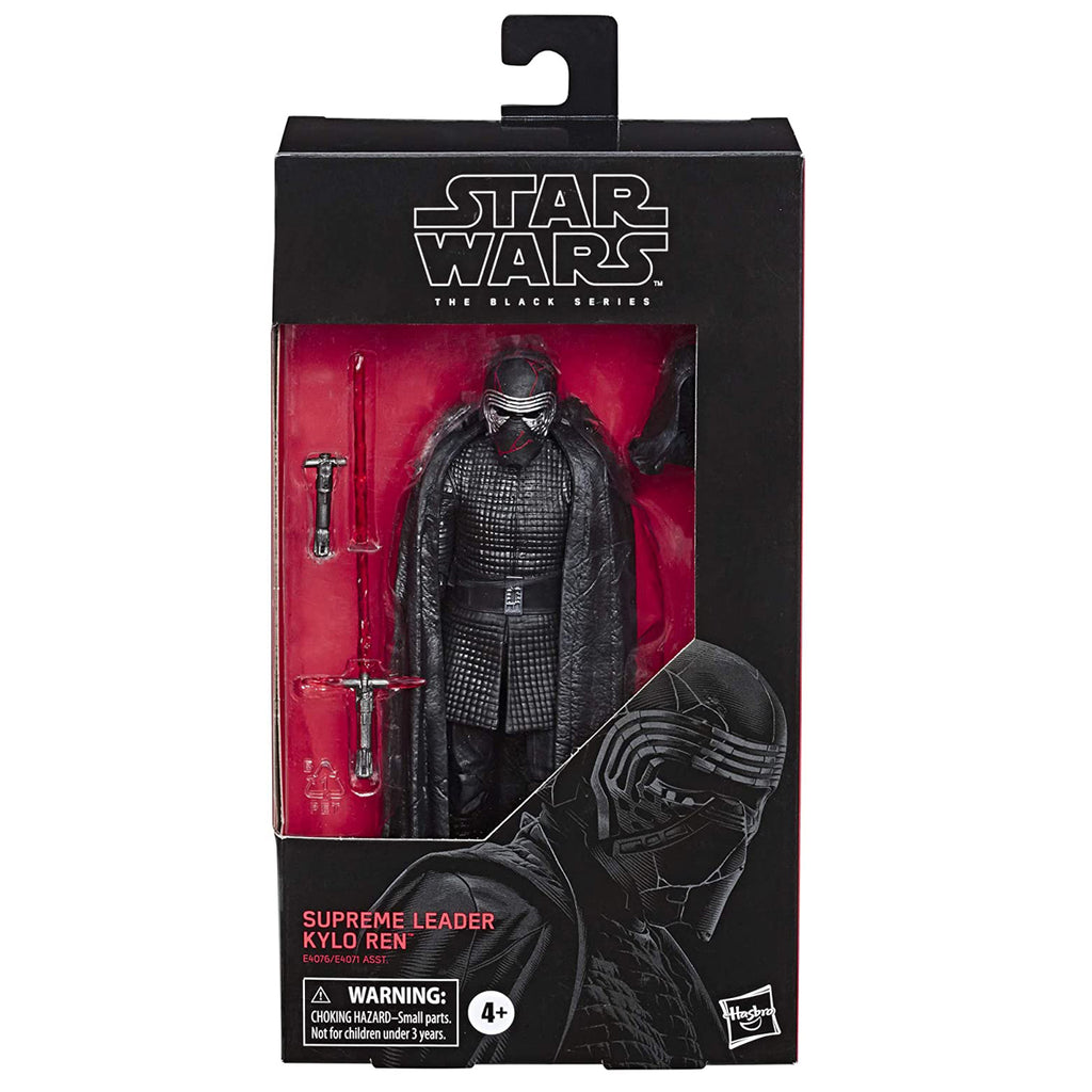 "Star Wars The Black Series Supreme Leader Kylo Ren Toy 6"" Scale The Rise of Skywalker Collectible Figure"