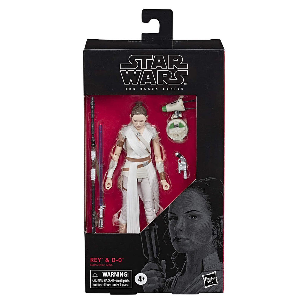 "Star Wars The Black Series Rey & D-O Toy 6"" Scale Collectible Action Figure"