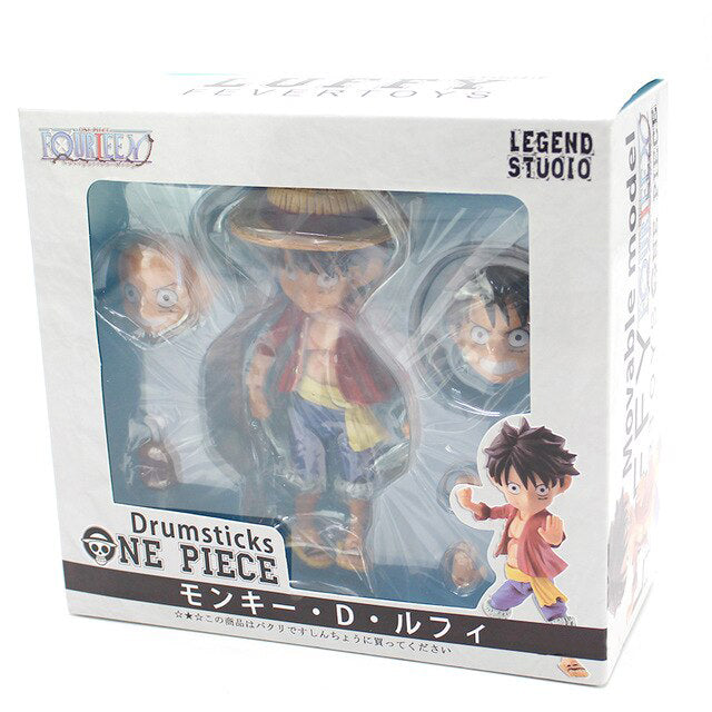 One Piece Monkey D Luffy Action Figure Drumsticks Movable Doll LEGEND STUDIO