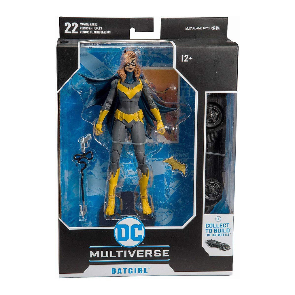 McFarlane Toys - DC Multiverse - Batgirl: Art of The Crime Action Figure with Build-A Rebirth Batmobile