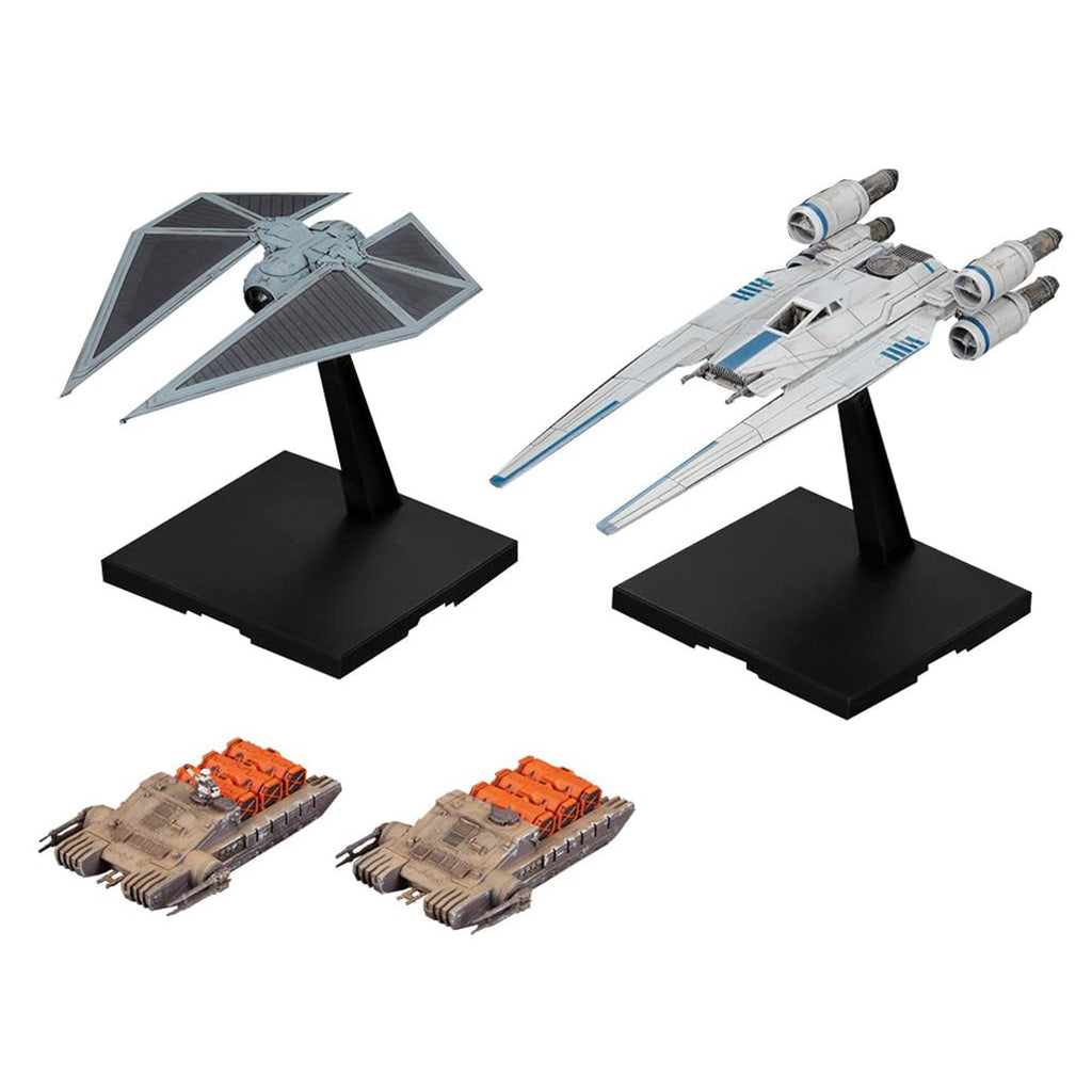 Bandai Hobby Scale 1/144 Star Wars U-Wing Fighter & Tie Striker Rogue One: A Star Wars Story