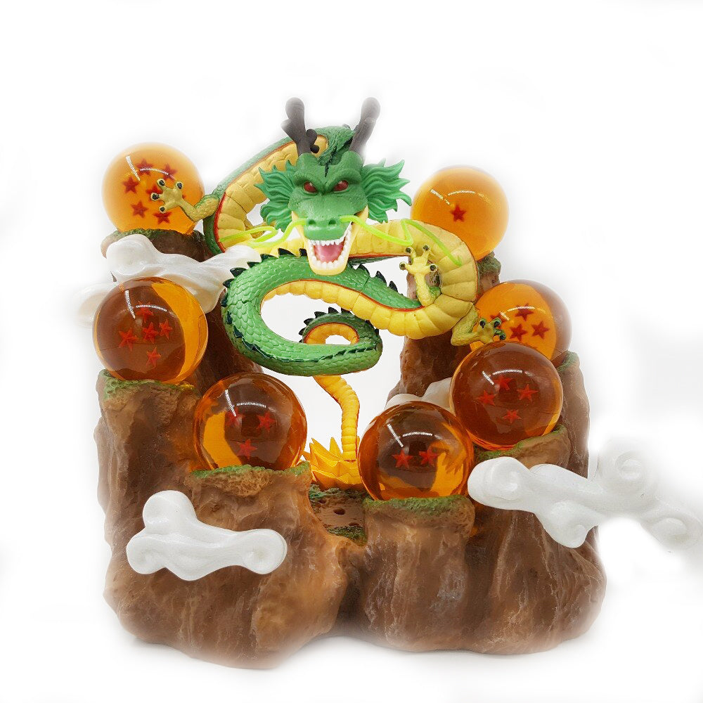 Summon Dragon Scene Dragon Ball Mountain Stand Background Base Collection Decoration