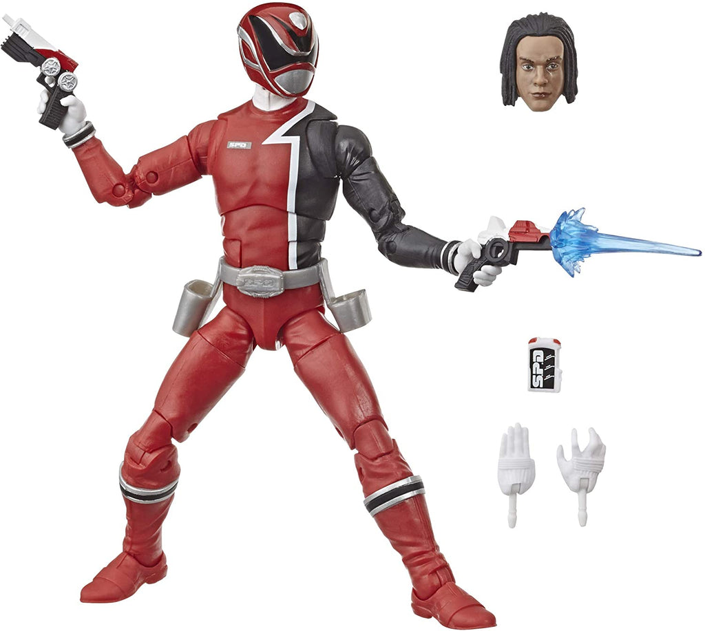 Power Rangers Lightning Collection 6-Inch S.P.D. Red Ranger Collectible Action Figure