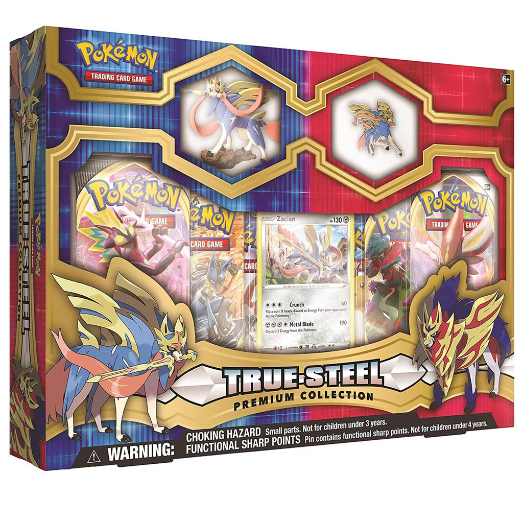 "Pokemon TCG: True Steel Zacian Premium Collection ""SPANISH EDITION"""