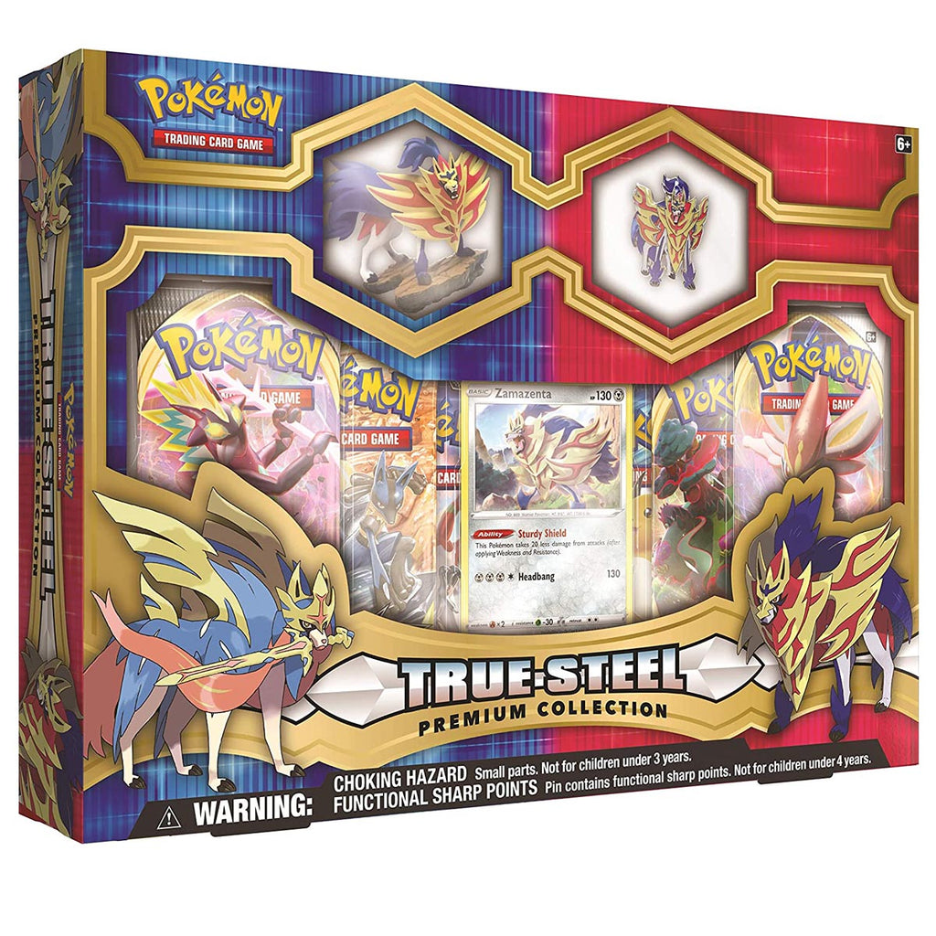 "Pokemon TCG: True Steel Zamazenta Premium Collection ""SPANISH EDITION"""