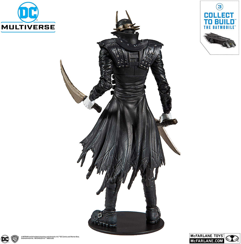 McFarlane Toys DC Multiverse Batman Who Laughs Action Figure with Build-A Rebirth Batmobile