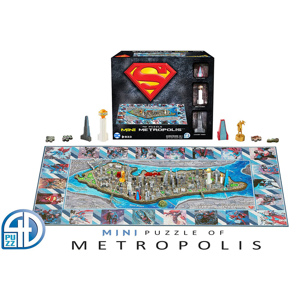 4D Cityscape Superman Mini Metropolis 3D Time Puzzle