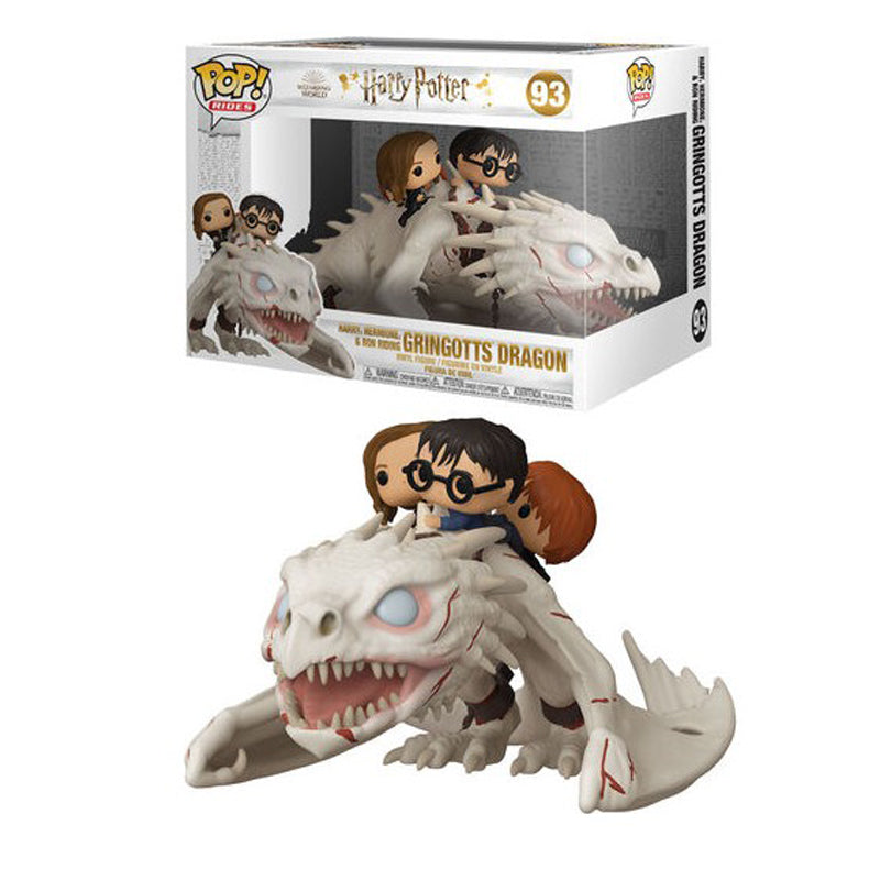 Funko Pop! Rides #93: Harry Potter - Gringotts Dragon with Harry, Ron, and Hermione