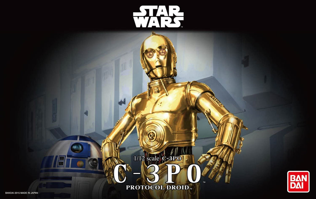 Bandai Hobby Star Wars Character Line 1/12C-3PO Star Wars Action Figure, White  Roll over image to zoom in Bandai Hobby Star Wars Character Line 1/12C-3PO Star Wars Model Kit
