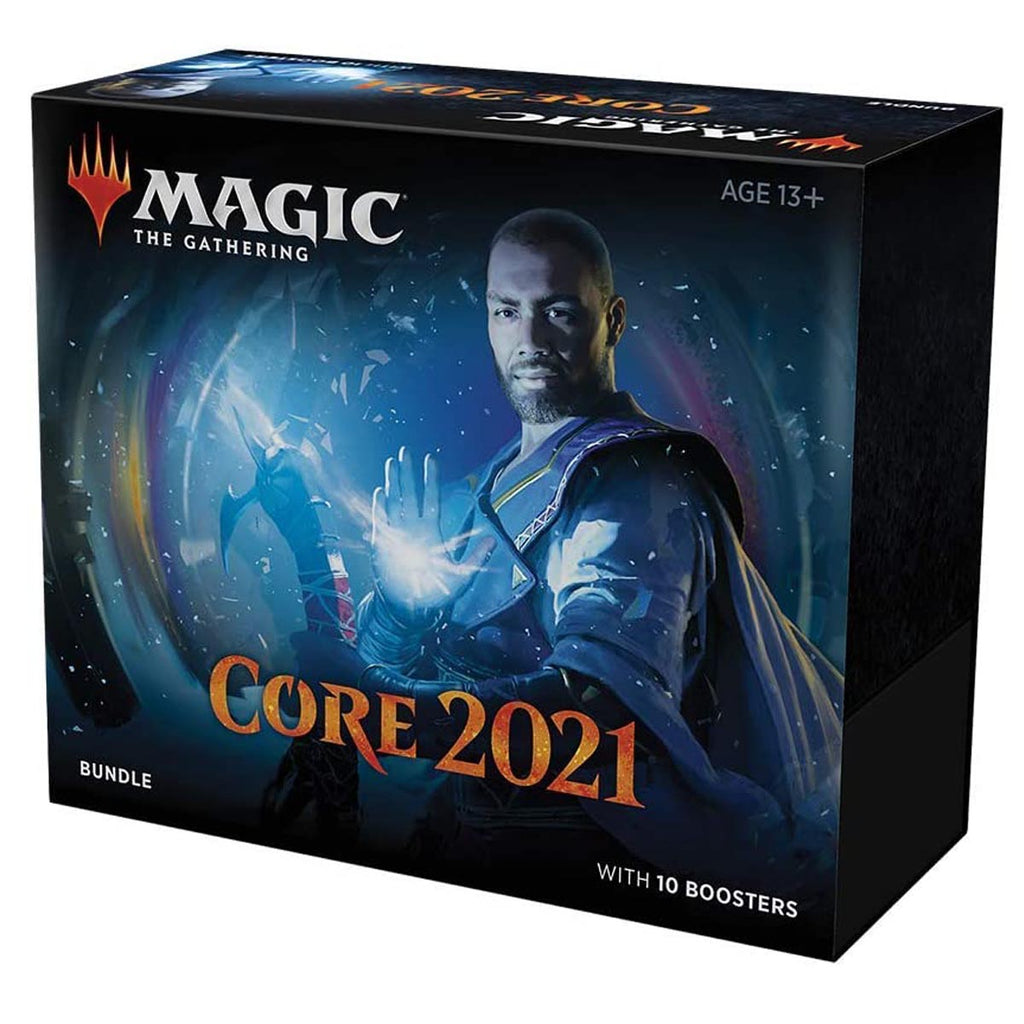 "Magic: The Gathering Core Set 2021 (M21) Bundle | 10 Booster Packs + 40 Lands (190 Cards) | Accessories ""ENGLISH EDITION"""
